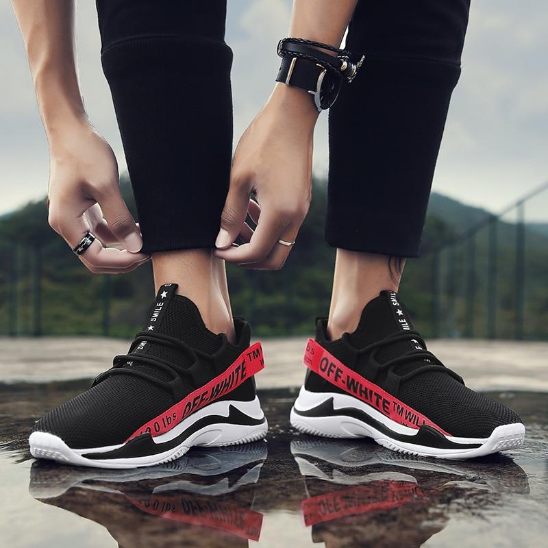 D'été Mode Chaussures Mocassins Plat Confortable Casual Loisirs Noir Maille De blanc Respirant Jeunes Doux jaune Paresseux Et Sneakers rouge Hommes BWxdroeC