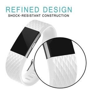 Image 5 - Correia de pulso para fitbit carga 2 banda relógio inteligente accessorie para fitbit carga 2 pulseira inteligente bandas substituição