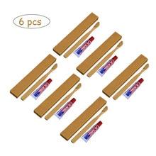 6 комплектов одноразовая мягкая щетина бамбуковая ручка зубная паста для ухода за полостью рта