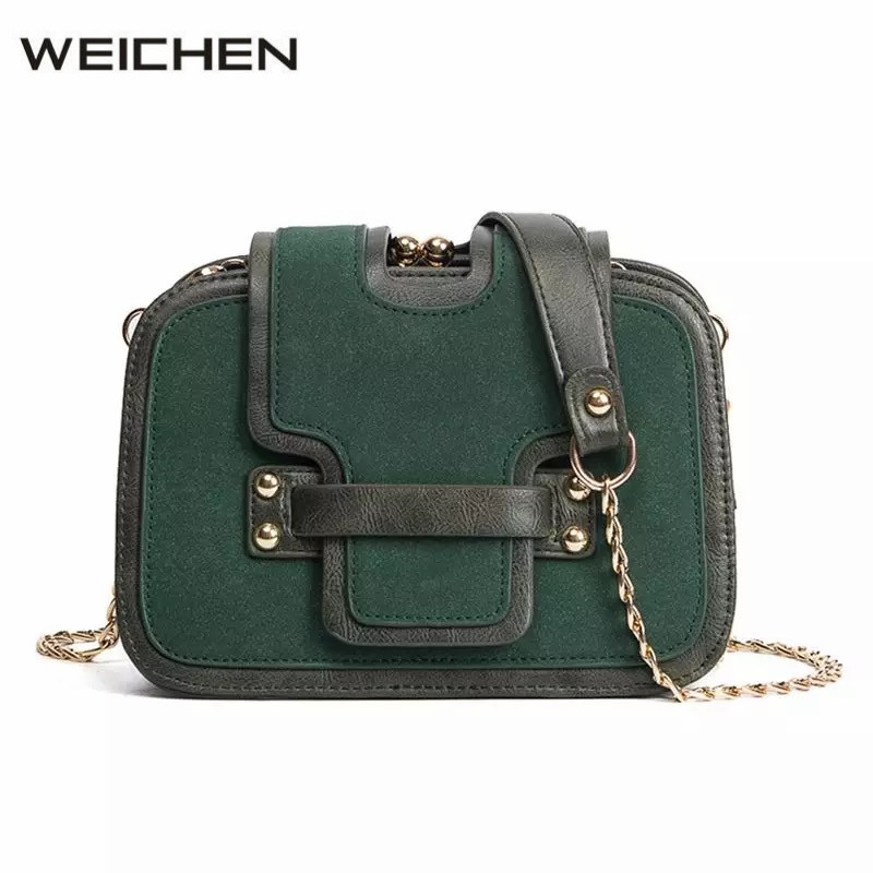 Leather Shoulder Bag 2018 Autumn Vintage Green Scrub Womens Small Bag Crossbody Bags For Women Messenger Bags Sac A Main Tassen