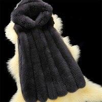 hooded fox fur gilet hot sale imitation fox fur waistcoat women rabbit faux fur vest