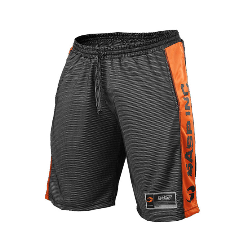 Men's Gym Fitness Quick Dry Shorts Loose Breathable Knee Length Summer Mens Casual Mesh Basketball GASP SportswearShort Pants