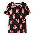 Fsj Minnie Mickey imprimir camisetas de algodón mujeres 2016 primavera verano Harajuku vendimia floja suave ocasional de la chaqueta Camisas