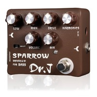 Dr J Sparrow Driver DI Effect Pedal For Electric Bass Overdrive Pedal EQ Control Mix Control