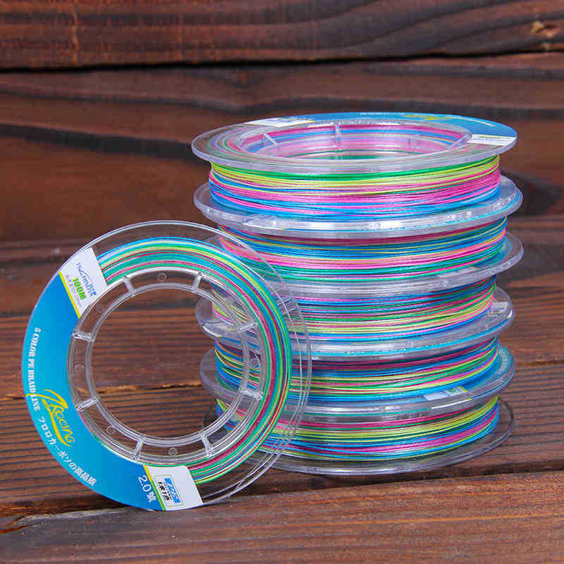 Great discount 100m 8 braided fishing line colorful pe for Cheap braided fishing line