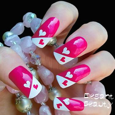 Wholesale 2014 New 48 Designs Fashion Nail Art French Tip Hollow Out
