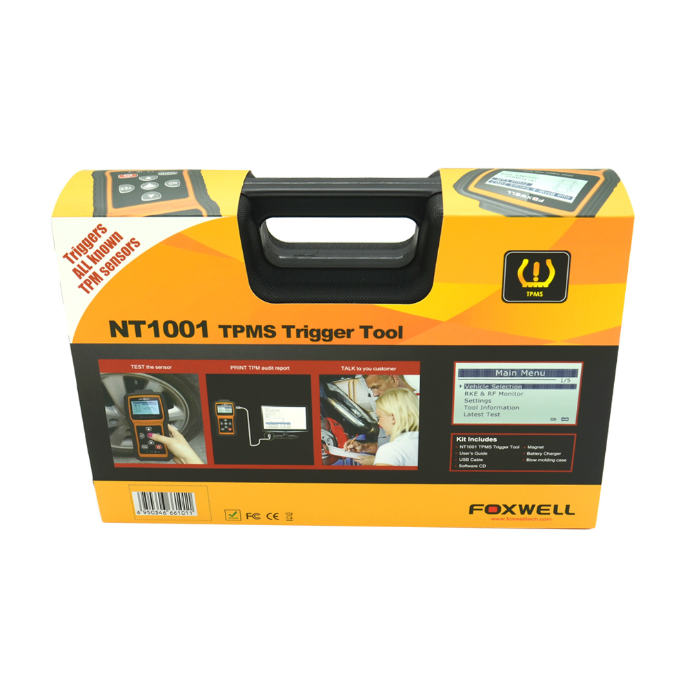 New Brand Scanner Foxwell NT1001 TPMS Trigger Tool Auto Diagnostic Scanner NT1001 TPMS Tool TPM Sensor Decoder or Activator