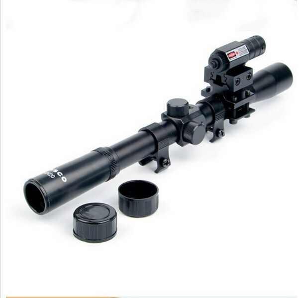 Rifle Jacht 4x20 Air Gun Rifle Optics Scope Caza Tactical Riflescope met Red Dot Laser Sight