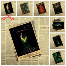 Science fiction Kraft Paper Poster Alien Office Gift Room Dining Home Decor wall sticker Design