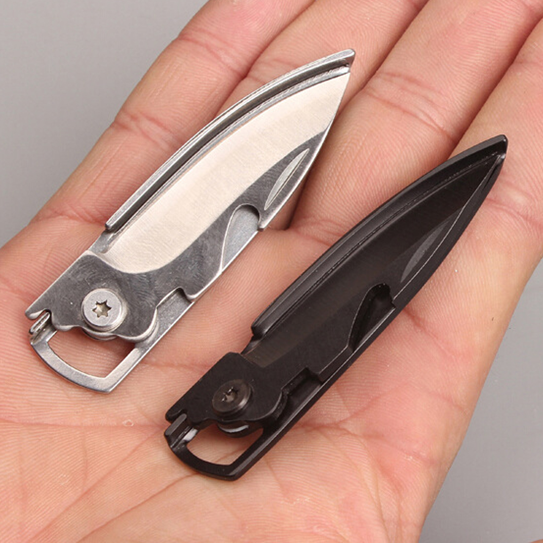 Multifunction Multi Purpose Multi Pocket Tool Fold Knife Bottle Opener Mini Key Defense Keyring