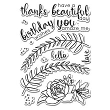 Eastshape Floral Flower Leaves Clear Stamps and Metal Cutting Dies Scrapbooking for 2019 New Craft Set Embossing Stencils
