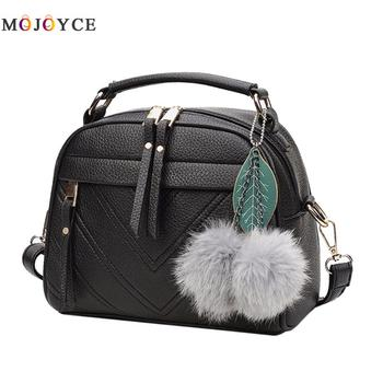 2018 Women Bag PU Leather Messenger Bags Crossbody Shoulder Bags With Ball Bolsa Top Handle Female Handbags