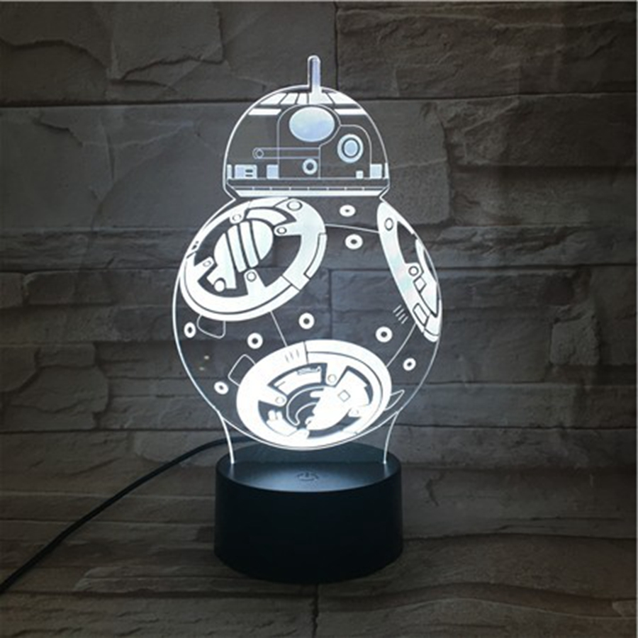 YINGTOUMAN 3D Lamp LED Desktop Decor Fighter Night Light 7 Color Change Table Bar Xmas Lamp Creative Child Gifts ...