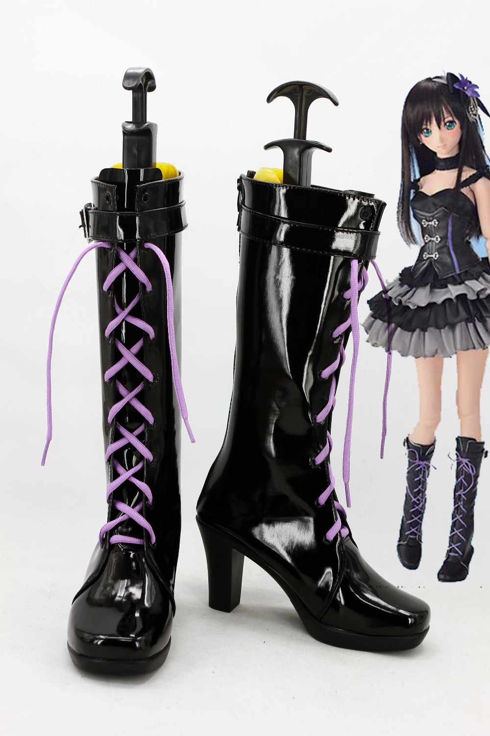 0 female costumes customize cos The iDOLM@STER Cinderella Girls Shibuya Rin COSPLAY customized cos shoes boots costumes