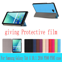 Hot Sale For Samsung GALAXY Tab A A6 10.1 P580 Case P585 Cover Magnet Flip PU Leather Case Three Folio Tablet Smart Slim Cover
