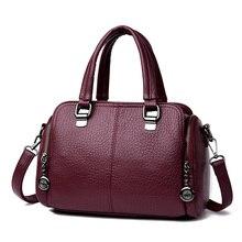 купить 2019 Fashion Handbags Women Crossbody Leather Bag Boston Pillow Irregular Handbags Lady Designer Brand Famous Shoulder Bags по цене 1707.98 рублей