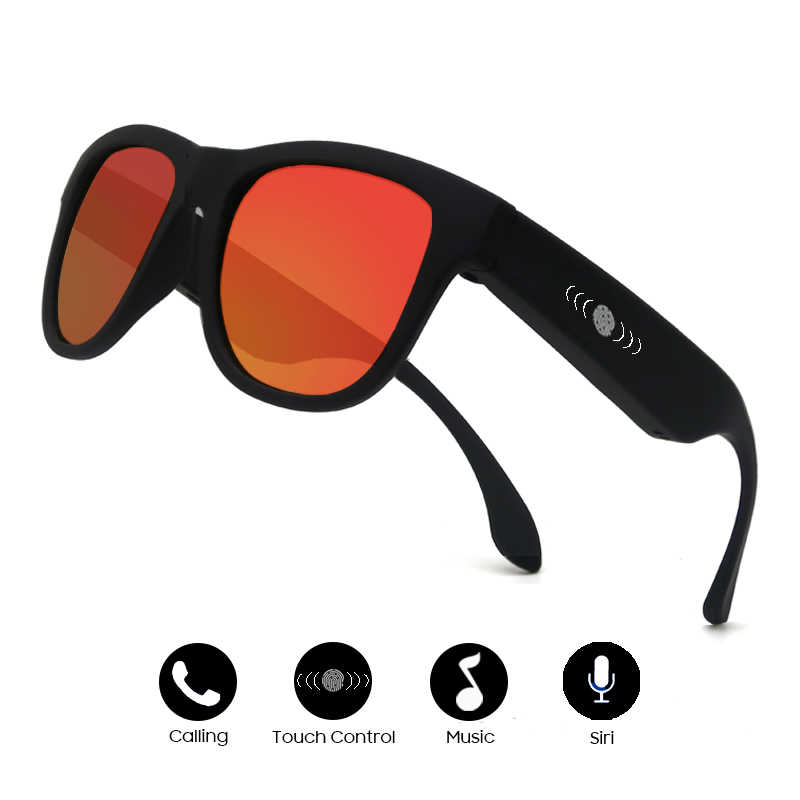 c1294a3e9348c 2019 New Arrival Men Bone Conduction Bluetooth Music Sunglasses Trendy  Women Sport Audio Headphone Sound Speraker