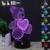 Care Bears Luz Da Noite 3D RGB Mutável Lâmpada de Humor e LEVOU Luz dc 5 v usb candeeiro de mesa decorativo obter um free controle remoto