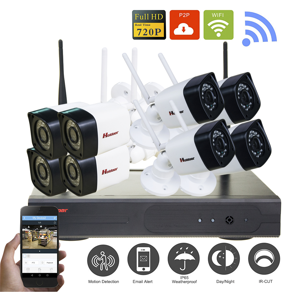 720P CCTV System 8CH HD Wireless kit Night Vision 1.0mp IP Camera wifi CCTV Camera kit Home Security System video Surveillance ahd wireless security camera system video surveillance kit 4ch wifi dvr kit hd 720p night vision wireless cctv ip camera kit set