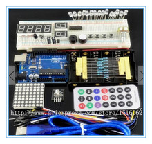 Free shipping! Basic starter kit Funduino UNO R3 learning packages for arduino