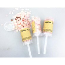 1pc Wedding Spray Confetti Cannons Handheld Fireworks Paper String Celebration Happy Birthday Party Decoration Supplies