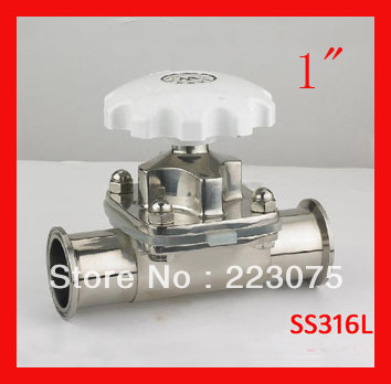 Free shipping New arrival  1 SS316L stainless steel diaphragm valve  manual   Tube FittingFree shipping New arrival  1 SS316L stainless steel diaphragm valve  manual   Tube Fitting