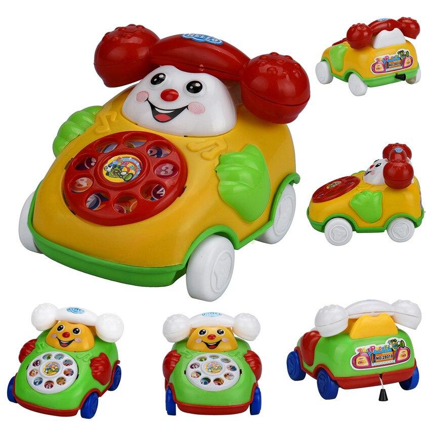 Cartoon Smile Phone Car Developmental Kids Toy Gift Wind-up Car L1025