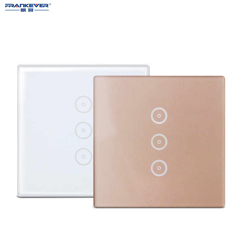 Frankever Smart Switch Remote Timing Control Wall WiFi work with Alexa Googlehome Touch Light Panel Home Automation FK-SEC04