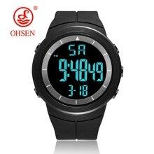 Цифровые военные спортивные часы с секундомером, мужские часы с будильником 50 м, Водонепроницаемый светодиодный светильник, черные модные наручные часы, мужские часы