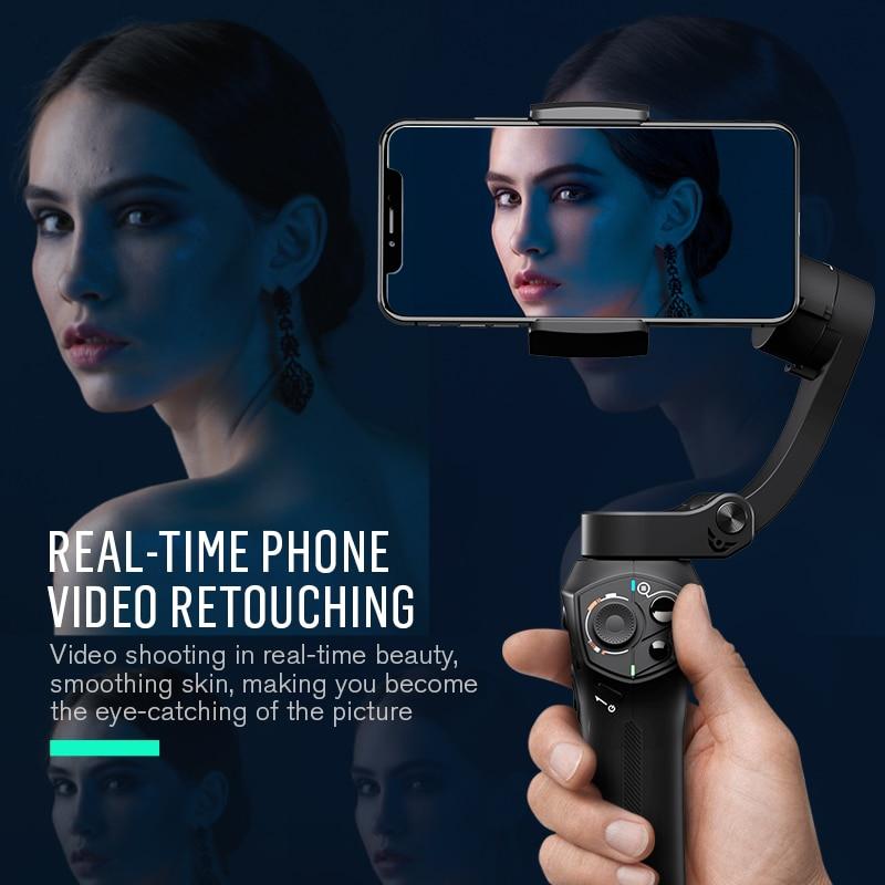 Snoppa Atom 3-Axes De Poche Cardan Smartphone Stabilisateur pour iPhone X Gopro 7 xiaomi PK Lisse 4 DJI osmo poche OSMO Mobile 2