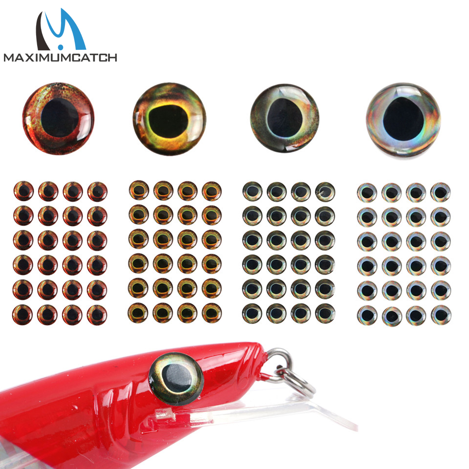 Maximucatch 24-252 Pieces 6 Storlekar Flybindning 4D Fiske Lure Fish Eyes Flybindning Lure Lure Making