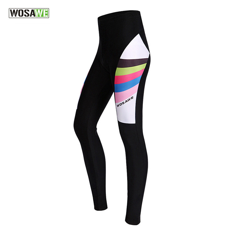 WOSAWE Autumn Women Cycling Pants 3D Gel Padded Cycling Tights Breathable MTB Bike Riding Long Pants Ciclismo Bicycle Trousers