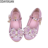 New Spring Summer Princess Girls Shoes Brand Children Wedding Sandals High Heels Dancing Kids Dress Shoes