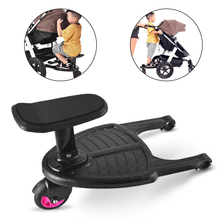 Children Stroller Pedal Adapter Second Kid Auxiliary Trailer Twins Scooter Hitchhiker Kid Standing Plate Seat Stroller Accessory