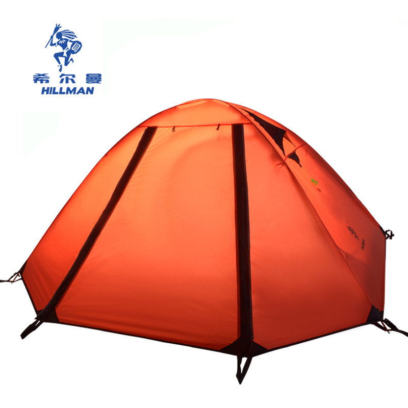 New style good quality 2 person double layer ultralight aluminum poles waterproof windproof camping tent