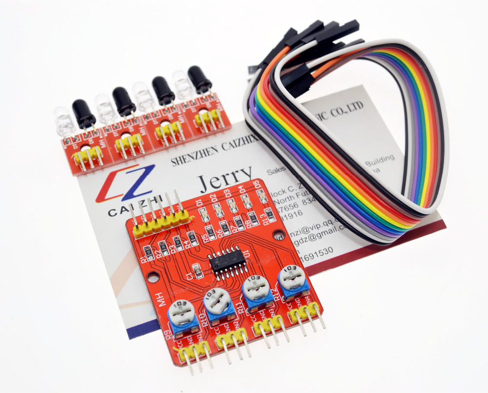 Four Road 4 Channel Infrared Detector Tracking Transmission Line Obstacle Avoidance Sensor Module for Arduino Diy Car Robot fonksiyonlu rende