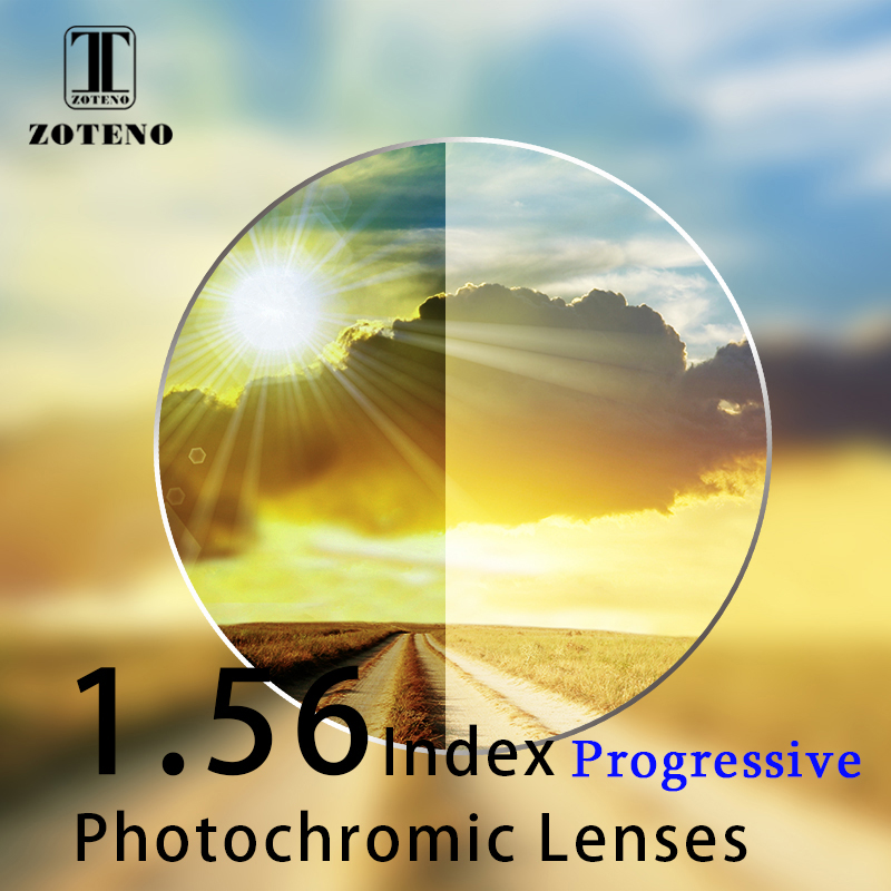 1.56 Index Progressive Photochromic Lenses Progressive Aspheric Lenses Myopia Hyperopia Optical Sunglasses Lenses