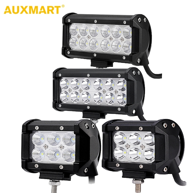 Auxmart 4 7 inch 18w 36w led work light led bar light for auxmart 4 7 inch 18w 36w led work light led bar light for motorcycle tractor boat aloadofball Choice Image