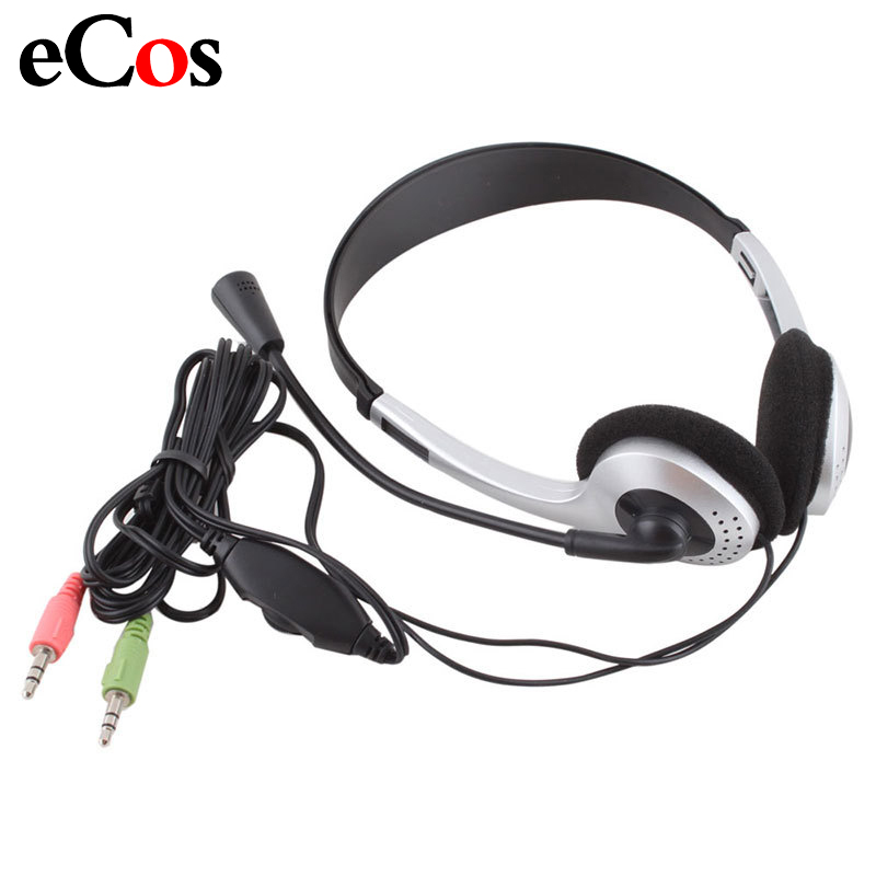 Cheap Wired Gaming Earphone Headphone With Microphone 3.5mm Plug MIC VOIP Headset Skype for PC Computer Laptop #21228 image