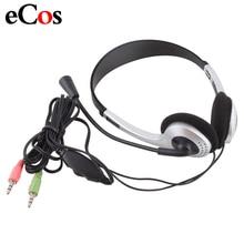 Fone de ouvido gamer com fio barato, com microfone, 3.5mm plugue microfone, skype para computador portátil, #21228