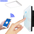 Sonoff wifi Toque Interruptor Luxo Glass1 Gang1Way Timing Interruptor de parede sem fio Via APLICATIVO de Controle Remoto para smart home (EUA/UE)