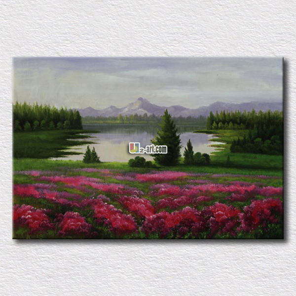 Beautiful scenery painting printed on canvas high quality painting arts for friends gift wall decoration