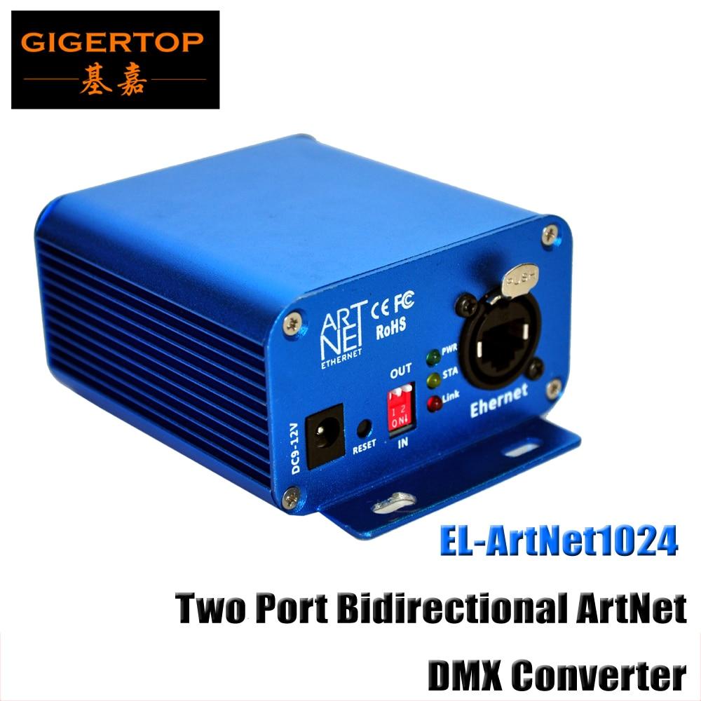 TP-D15 Lan 512 EL-ArtNet1024 kahe pordi kahesuunaline ArtNet / DMX muundurikast kiire ARM-protsessori standardne ArtNet-protokoll