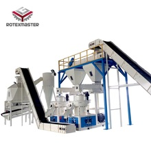 2-3 T H kompletny drewno trociny linia do produkcji pelletu tanie tanio ROTEXMASTER YGKJ700 Nowy Wood Pellet Production Line 2-3t h 132 160kw 6 8 10mm round wood chips waste wood agricultural