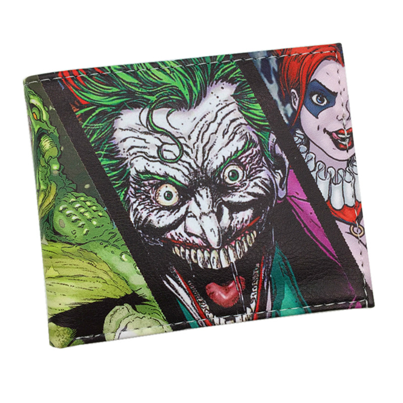 FVIP New Arrival The Joker /Deadpool/Poke Go/The Dead Walking Bifold Men Wallets With Zipper Coin Pocket Purse Billeteras camp bambino