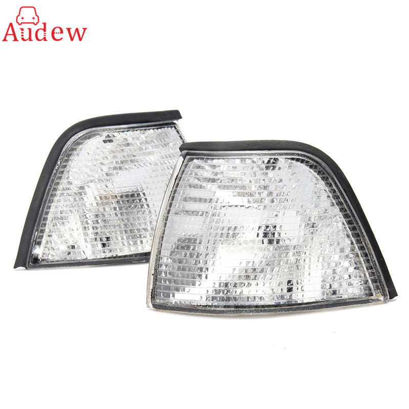 2Pcs Turn Signals Sidelights Side font b Lamp b font Corner Lights For BMW E36 3
