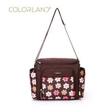 Colorland baby diaper bag diaper storage bag fashion mommy pregnant women bag brand mother slung waterproof nylon bag colorland baby diaper bag storage bag fashion mommy pregnant women package daddy messenger bag change diaper bag diaper handbag