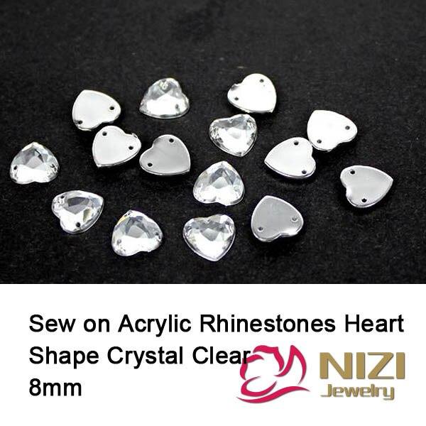 8mm Sewing Rhinestones For Wedding Dress Heart Shape Flatback Crystal Clear  Strass Taiwan Acrylic Rhinestones Fashion Strass 2dee3ad88190