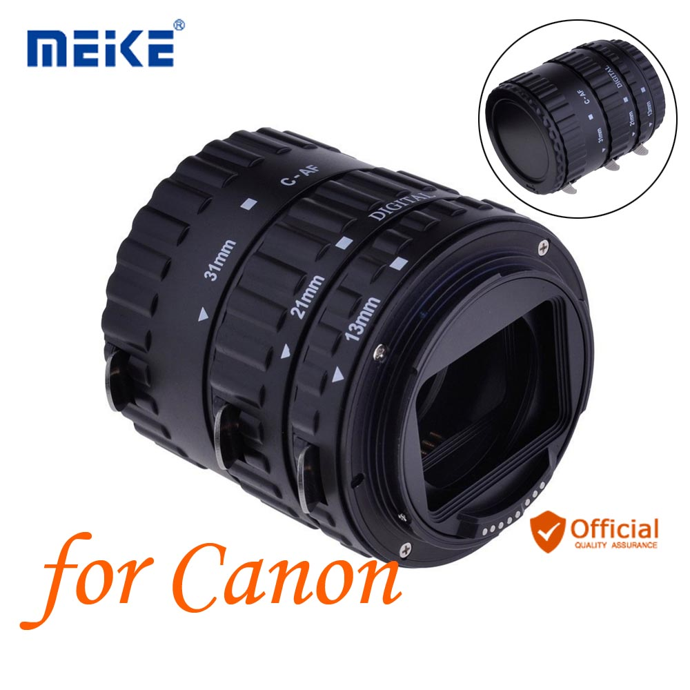 Meike Auto Focus AF Macro Extension Tube Ring for Canon EOS 1300D 800D 760D 750D 700D 650D 200D 77D 80D 60D 5Ds 7D 6D Camera len high quality silicone camera cover for canon 6d 6d2 5d4 1300d 77d 80d 650d 700d 5diii soft rubber camera case skin for canon