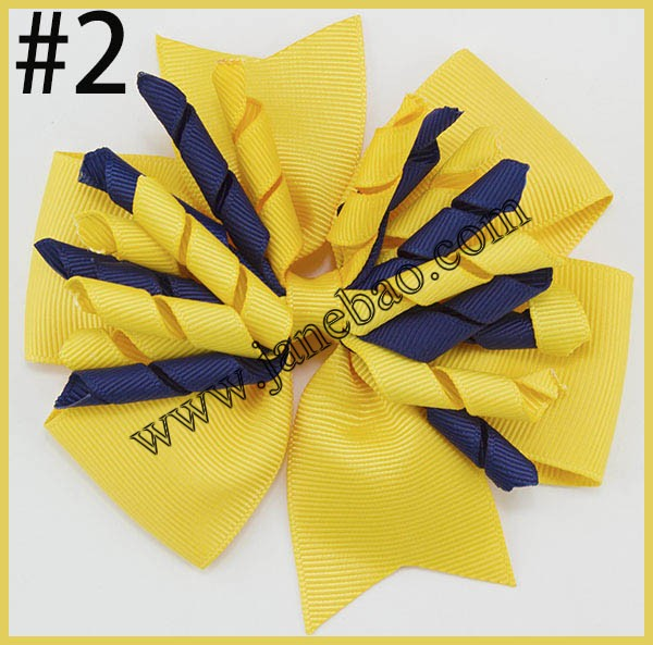 free shipping 50pcs 4inch pinwheel girls hair bow with corker tassels School Hair Pinwheel Bow Clasps